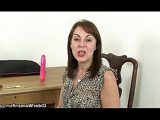 Cougar Dildo Granny HD Mature MILF Nylon Panties