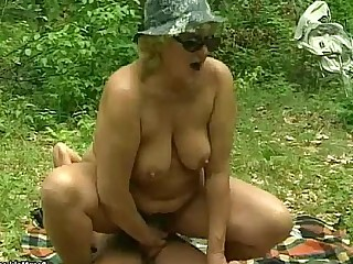 BBW Fatty Granny Hairy Mammy Mature Old and Young Outdoor