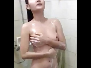 Amateur Homemade Indonesian Shower Tease
