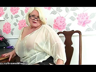 Cougar Granny HD Mature MILF Office Pornstar Solo