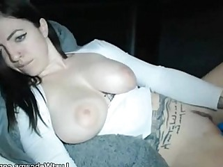 Big Tits Brunette Bus Busty Dildo Masturbation Solo Tattoo